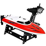 RC Boat Remote Control Speedboat Remote Control Ship 2.4G High Speed Electric RC Racing Boat USB Charging with Built-in Battery