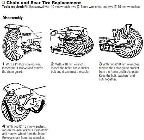 Razor E200 Chain Tensioner Spring Version 36+ PREMIUM Replacement SPRING and Perfect fit for Razor E200 Electric Scooter