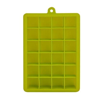 Bandejas para Hielo Silicona 24 Cubos Cubitera Hielo FDA Grado de Alimentos Moldes de Cubito de