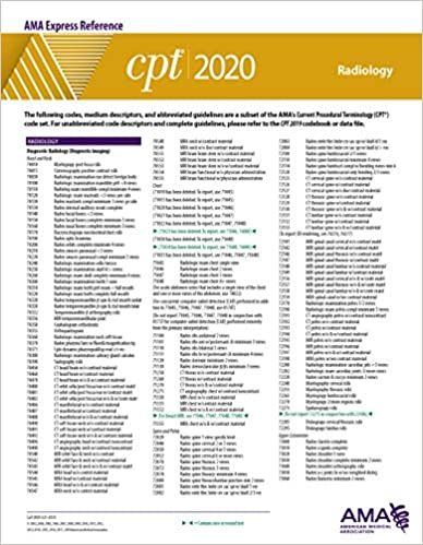 Cpt Modifiers List 2020.Radiology Cpt 2020 Express Reference Coding Card