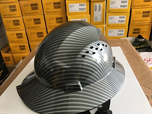 c230e727b47 HDPE Hydro Dipped Black Full Brim Hard Hat with Fas-trac Suspension