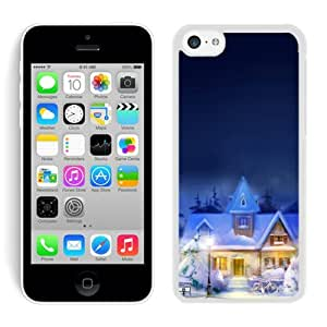 2014 Newest Iphone 5C TPU Case Christmas Town iPhone 5C Case White