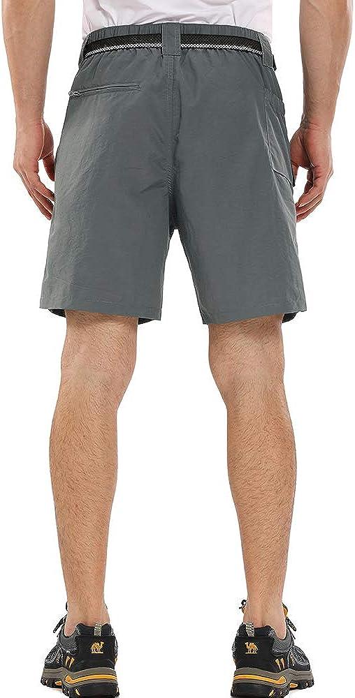 Hubunucc Hiking Shorts Men Quick Dry Tactical Breathable Lightweight Nylon Casual Capri