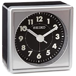 Seiko 2 Square, Compact & Lightweight Bedside Alarm Clock