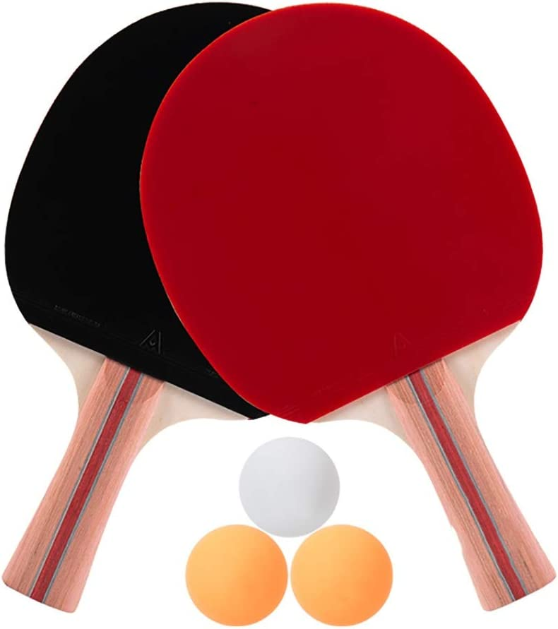 Hewen-Table Tennis Paddle Mesa De Ping Pong 2 Set De DVD con 2 Raquetas, Bolas 3, For Los Formadores, Aficionados, Principiantes, Expertos Raquetas de Tenis de Mesa