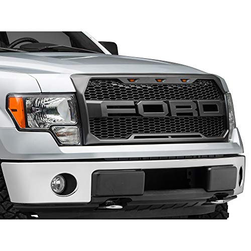 Grille Ford F150 Light - Raptor Style Grille with F-O-R-D Lettering & LED Lighting - for Ford F-150 (Excluding Raptor) 2009-2014