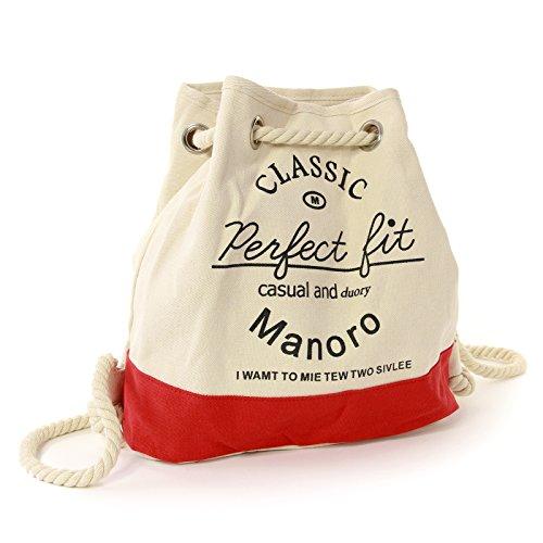 blanc Blanc Sac à au Manoro femme main porté dos rouge pour 8zFFqdnw