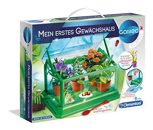 Clementoni 69490 Galileo Science – Mi primer invernadero, jardinera y semillas, para jardineros y botánicos iniciales, juguete para niños a partir de 8 años