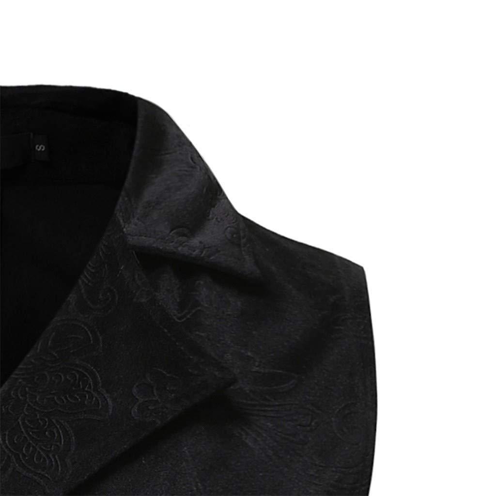 Kobay Hommes Liquidation Tailcoat Veste Gothique Steampunk Uniforme Costume De Fête Outwear Manteau Noir-4