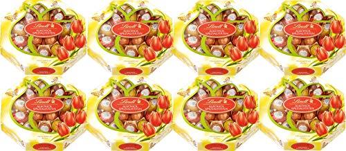 Lindt Alkohol-Eier Spezialitäten Cognac Eier Likör Kirsch Wasser Kassette 8 x 144g