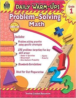 Daily Warm-Ups: Problem Solving Math Grade 1: Amazon.ca ...