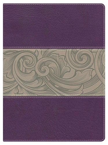 (Holman Study Bible: NKJV Edition, Eggplant/Tan LeatherTouch)