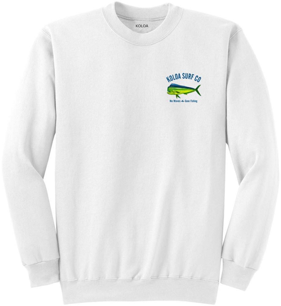 Koloa Surf Mahi Mahi No Waves Crewneck Sweatshirt USA-White-S