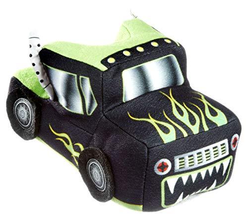3D Thick Plush Truck Slippers Little Boys Non Slip Full Foot (9-10) Green