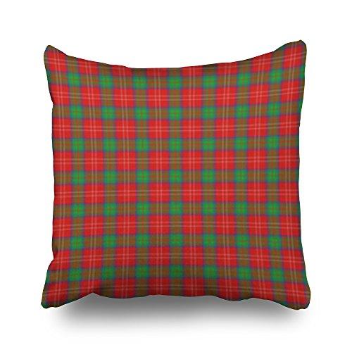 Throw Pillows Covers Seamless Patterned Tile Clan Fenton Tartan Christmas Plaid Square 16x16 Inches Pillow Cases Design Home Decor Sofa Cushion Pillowcases (Fenton Elephant)