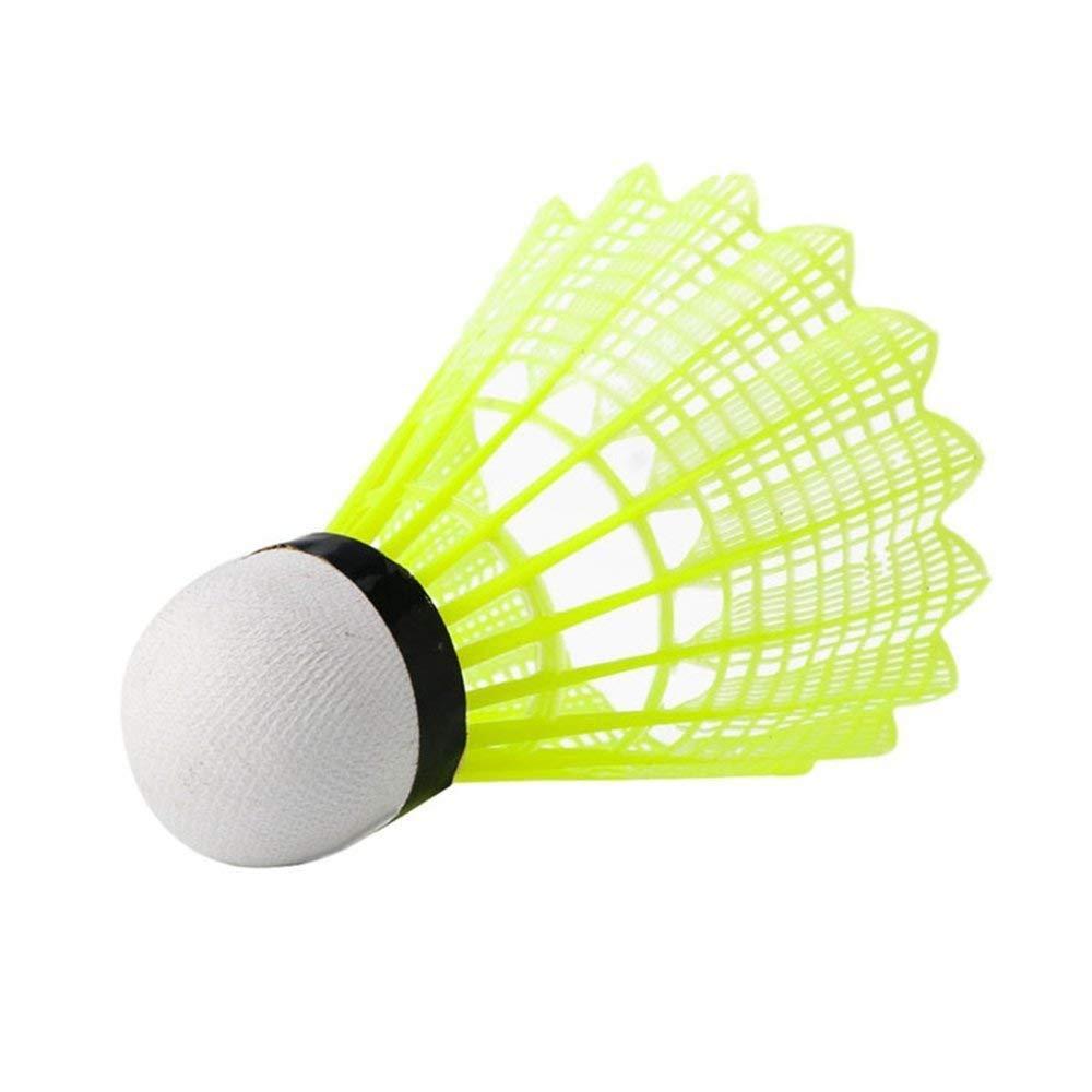Green Volants de Badminton en Nylon Volants Tube de 6