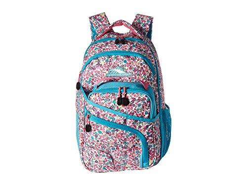 High Sierra Wiggie Lunch Kit Backpack, Prairie Floral/Tropic Teal/Pink Lemonade - Backpack+Lunch Kit