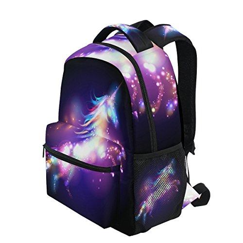 b23d950520 JSTEL Unicorn Magic With Stars School Backpack 1th 2th 3th Grade for Boys  Teen Girls Kids