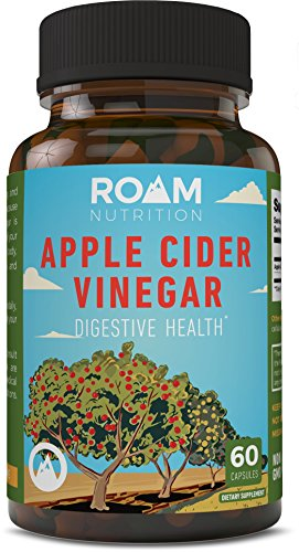 600mg Apple Cider Vinegar Pills – 60 Gelatin Capsules – USA-Made, Non-GMO Dietary Supplement – Supports Digestive Health, Weight Loss & Blood Circulation – All Natural Detox -by Roam Nutrition