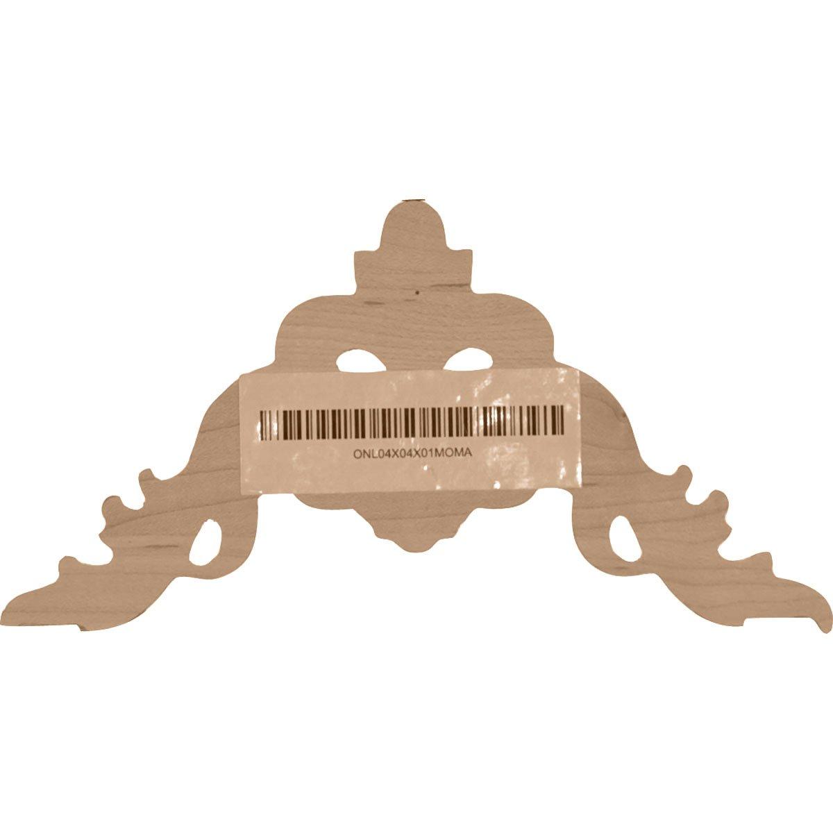 Maple Ekena Millwork ONL04X04X01MOMA-CASE-2 Onlay W x 4 1//2 H