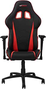 GT OMEGA PRO Racing Gaming Chair with Ergonomic Lumbar Support - PVC Leather Reclining High Back Home Office Chair with Swivel - PC Gaming Desk Chair for Ultimate Racing Experience - Black Next Red