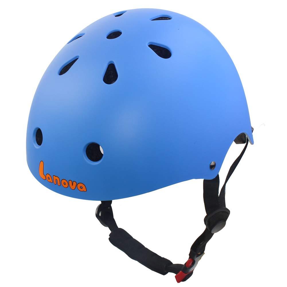 LANOVAGEAR Toddler Kids Helmet Adjustable CPSC Certified Helmet Impact Resistance Ventilation for Multi-Sports Cycling Rollerblading Skateboarding
