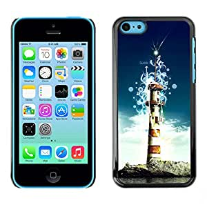 Hot Style Cell Phone PC Hard Case Cover // M00100770 lighthouse art // Apple iPhone 5C