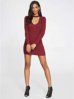 697b3ca168b G by GUESS Women s Belinda Off-The-Shoulder Cutout Sweater Dress at ...