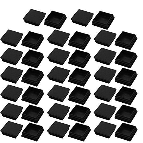 uxcell 40pcs 50x50mm Black Plastic Square Cabinet Leg Insert Cover Protector by uxcell