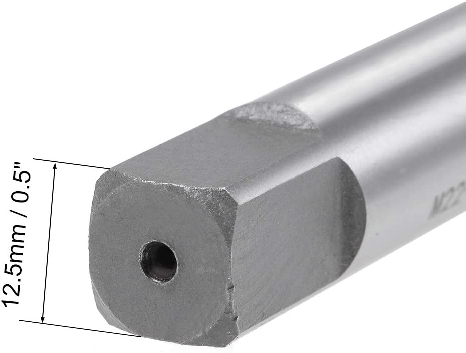uxcell Metric Machine Tap M22 Thread 2.5 Pitch 4 Straight Flutes High Speed Steel