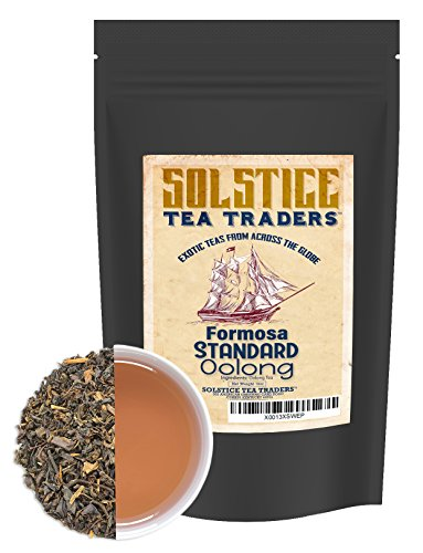Pure Oolong Loose Leaf Tea (16 Ounces), Formosa Standard Taiwan Oolong Tea, 175+ Cups Per Bag (1 Lb.)