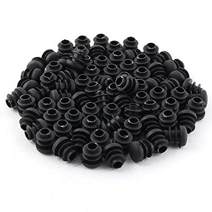 eDealMax Pies de muebles de plástico antideslizante Patas de la Silla Punta del tubo Insertos Protectores