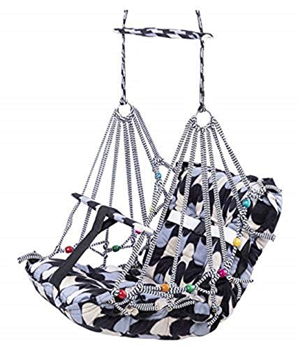 Crizer Cotton Swing for Kids Baby's Children Folding and Washable 1-3 Years with Safety Belt Home, Garden Jhula for…