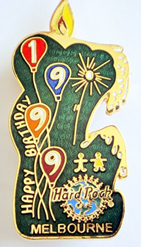 Hard Rock Cafe Melbourne 1999 Happy Birthday Pin Green Candle ()