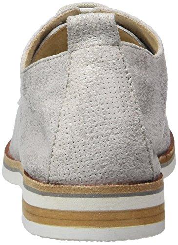 Caprice 23200, Zapatos de Cordones Oxford para Mujer Gris (Lt Grey Suede)