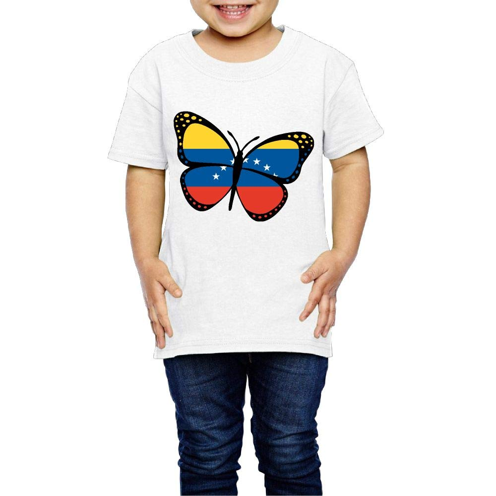 Venezuela Flag Butterfly 2-6 Years Old Child Short Sleeve T Shirt
