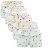 JIEYA 3-pack or 5-pack Baby Little Girls Underwear Pants (Tag size 140(3-4years), 5-pack)