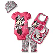 Disney Baby Minnie Mouse 5 Piece Layette Box Set, Pink, 0-6 Months