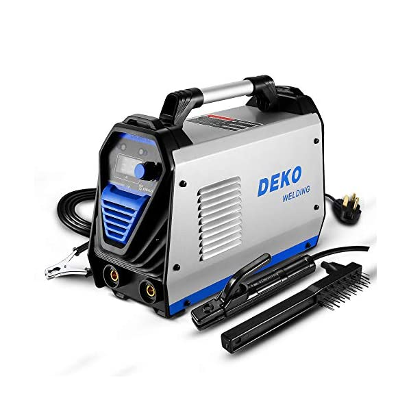 DEKOPRO 200Amp MMA Welder, 110/220V Stick Welder Dual Voltage ARC Welders Portable Welding Machine Electrode Holder,Work
