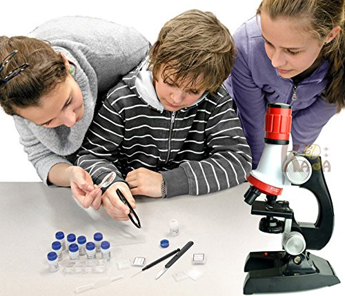 Regilt Microscope Kit Science Experiment Supplies LED 100x 400x and 1200x Magnification for Boys Girls Students by Regilt (Image #2)