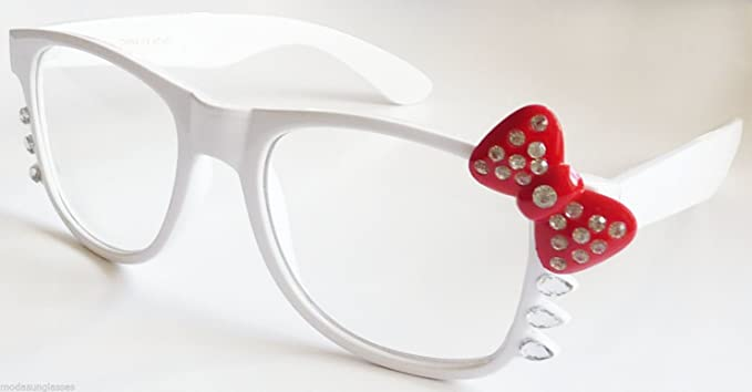 8e83cecfa Image Unavailable. Image not available for. Color: Hello Kitty Women Clear  Lens Eye Glasses ...
