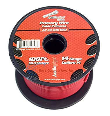 14 GA gauge 100' Red Audiopipe Car Audio Home Primary Remote Wire