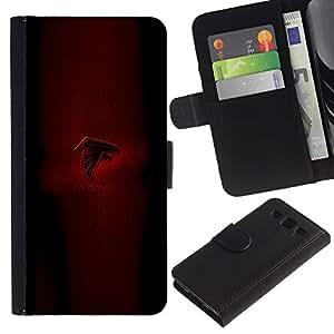 KLONGSHOP // Tirón de la caja Cartera de cuero con ranuras para tarjetas - Falcons - Samsung Galaxy S3 III I9300 //