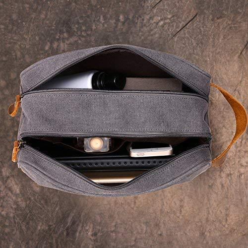98515d3d73 Kemy s Mens Toiletry Bag Bathroom Travel Shaving Bags for Men Dopp Dob Dobb Kit  Vintage Leather