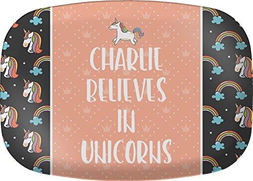 Unicorns Melamine Platter (Personalized Melamine Platter)