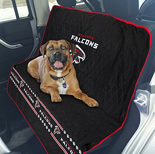 Pets First NFL CAR SEAT Cover - Atlanta Falcons Waterproof, Non-Slip Best Football Licensed PET SEAT Cover for Dogs & Cats.