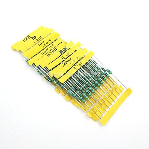 Value.Trade.Inc - 1/2W Inductors Color ring inductor assortment 1UH-1MH 12valuesX10pcs=120pcs Inductors Assorted Set Kit