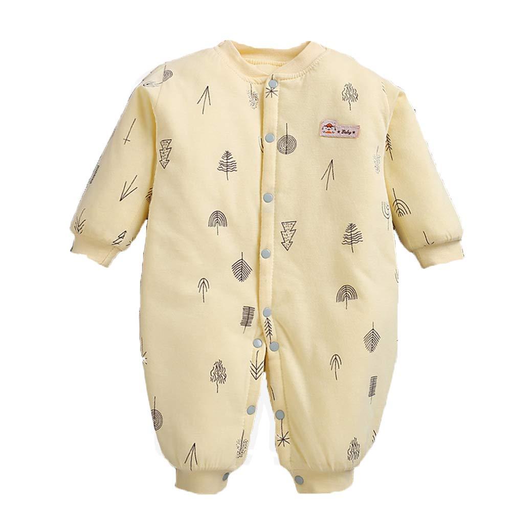 HAIMING-sleeping bag Saco De Dormir Pierna Dividida Mono De Bebe Pijamas De Bebe-Bebé Siamés Acolchado Pierna Saco De Dormir Botón De Diseño Algodón 0-12 ...