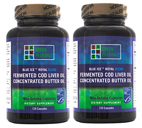 Blue Ice Royal Butter Oil / Fermented Cod Liver Oil Blend (240 Capsules)