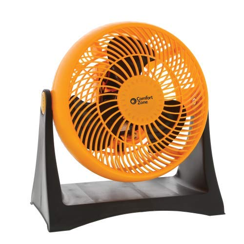 World & Main Comfort Zone 8-Inch Velocity Turbo Fan, Orange
